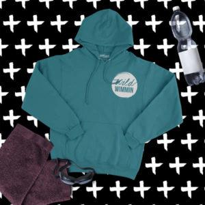 wild wimmin hoodie jade