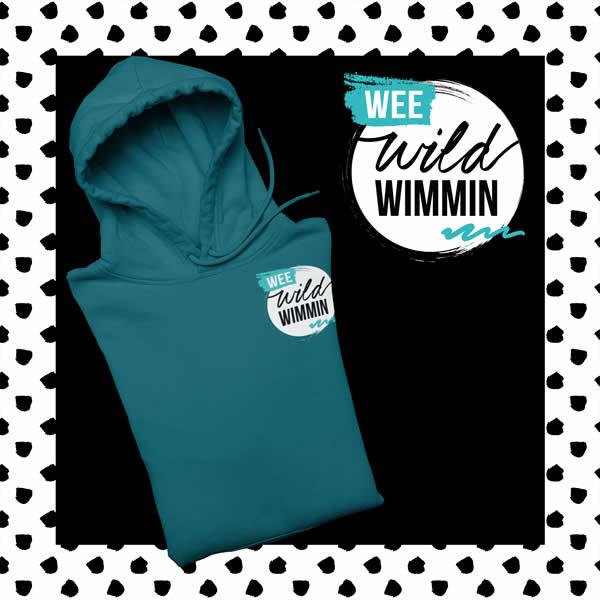 wee wild wimmin jade hoodie